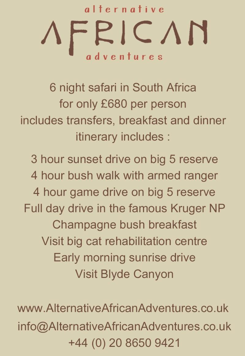 4x4 Africa Safari Holiday Fb-ad010