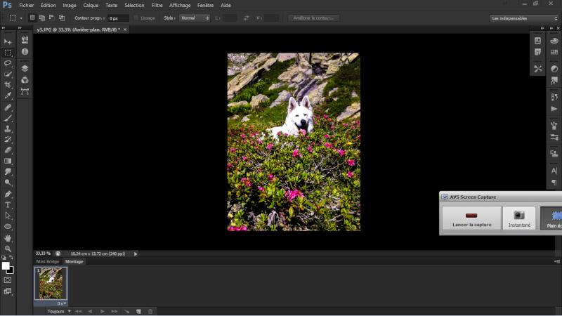 Tuto animation créer une bannière pub avec photoshop fichier gif Snapsh11