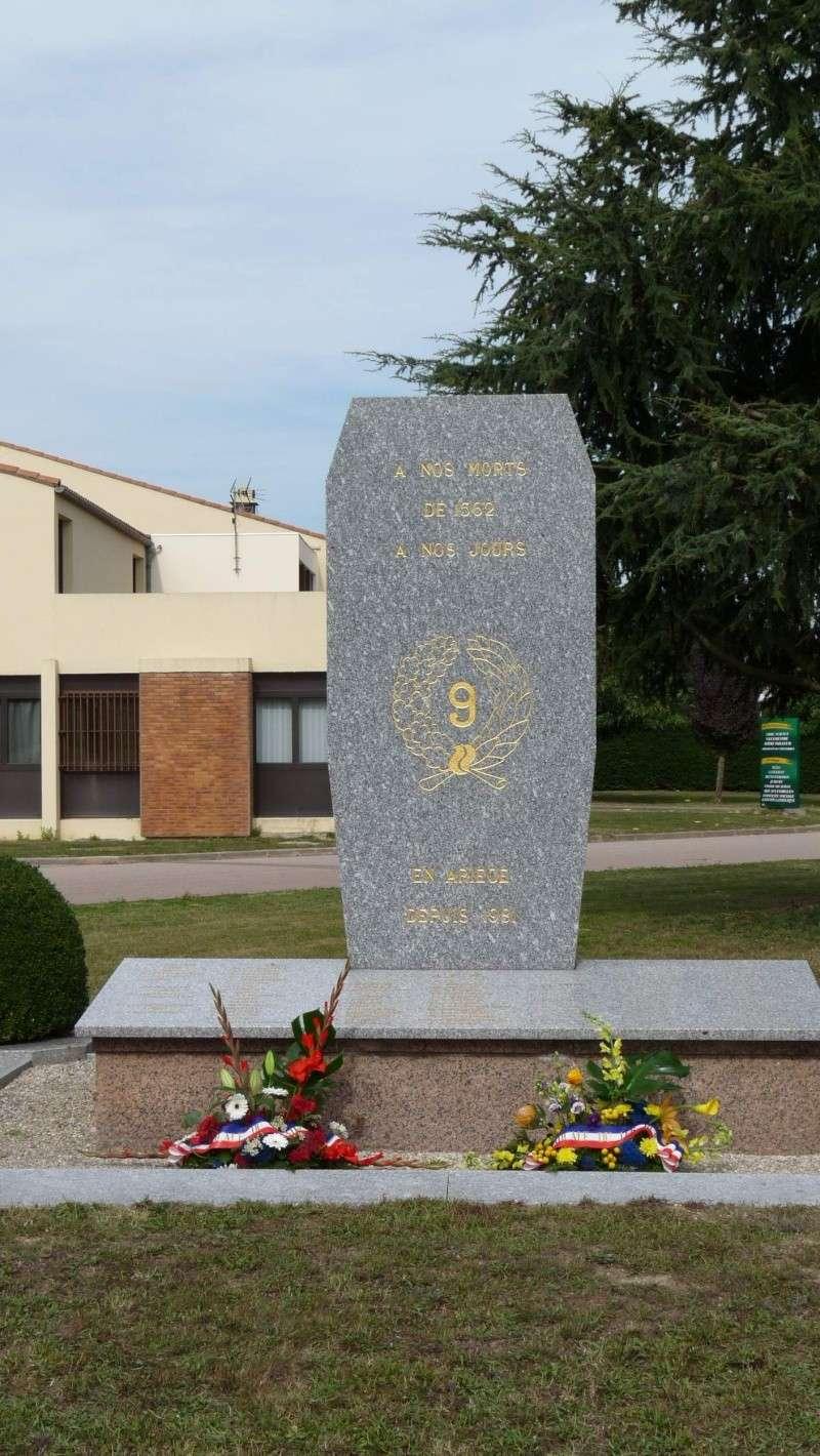 1er RCP - 9ème RCP Saint Michel au quartier Beaumont à Pamiers amicales du 1° et 9° R.C.P. P1050325