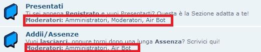 Come togliere nella descrizione la lista dei moderatori Immagi24