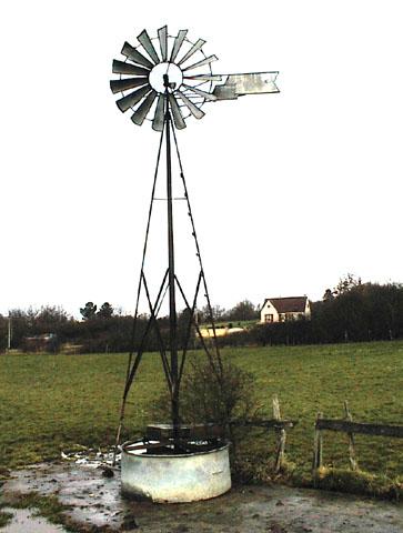 Eolienne, pompage de l'eau, principe de base Eole310