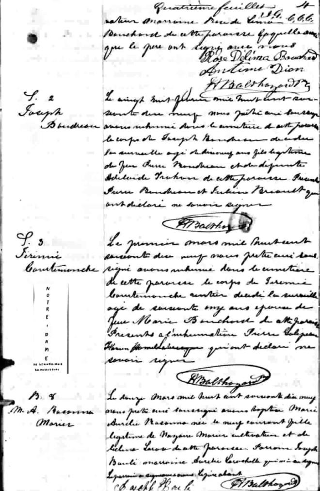 Marié,Nazaire et Sélima Larose 13082910