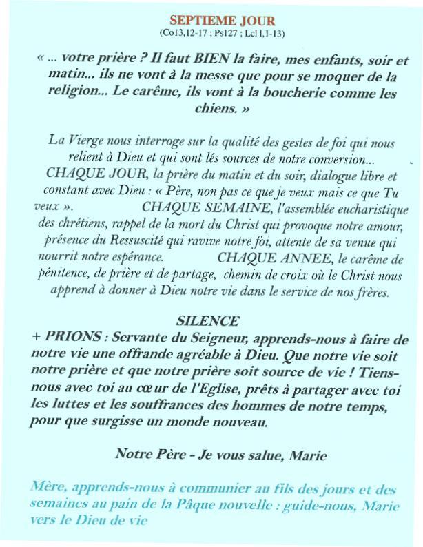Neuvaine et chapelet à Notre Dame de la Salette du 11 au 19 septembre Salett11
