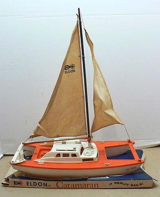 "1960's ""Eldon"" toy catamaran 1960s-10"