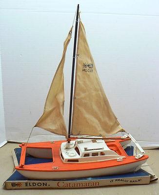 "1960's ""Eldon"" toy catamaran 1960s-11"