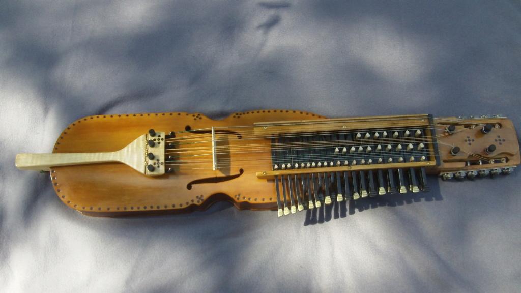 "The ""Nyckelharpa"" a Scandinavian stringed/bowed/keyed MusicalIinstrument Nyckel10"