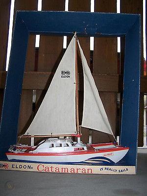 "1960's ""Eldon"" toy catamaran Vintag13"