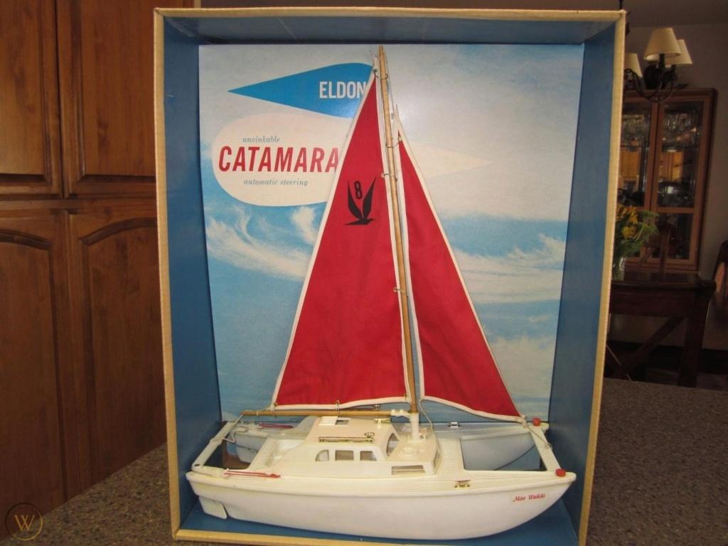 "1960's ""Eldon"" toy catamaran Vintag14"