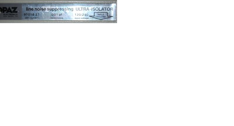 Transformateur d'isolement Plaque11