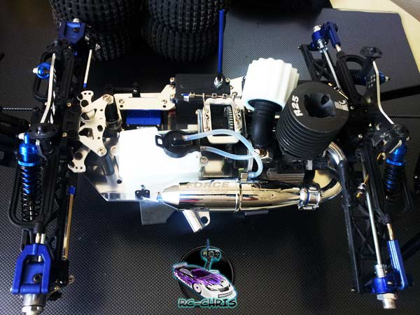 Truggy 1:8 Optik Tuning Blau eloxiert lackieren [Tutorial]  20130718