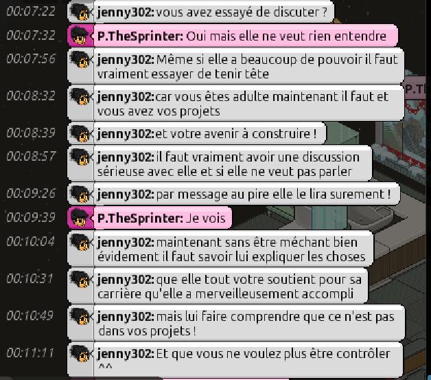 [C.H.U] Rapports d'actions RP de jenny302 Consul12