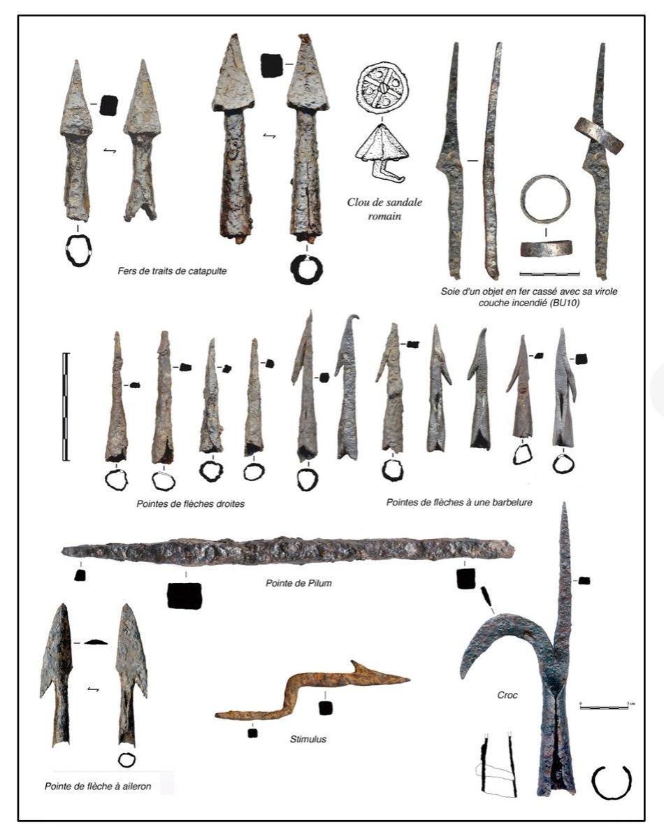 Pointes de flèches de la bataille de Castillon (1453). Ev-7u010