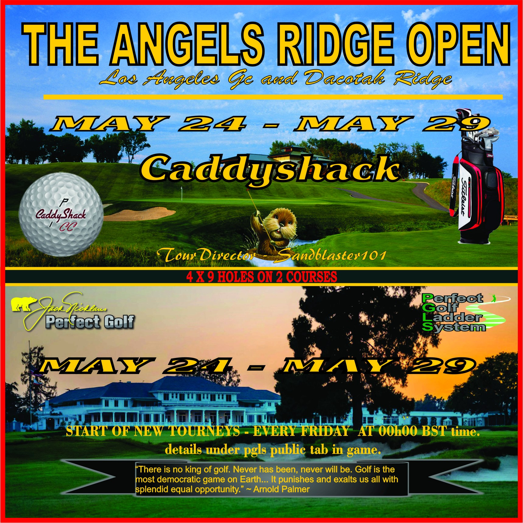 CaddyShack Weekly Tournament Angels11