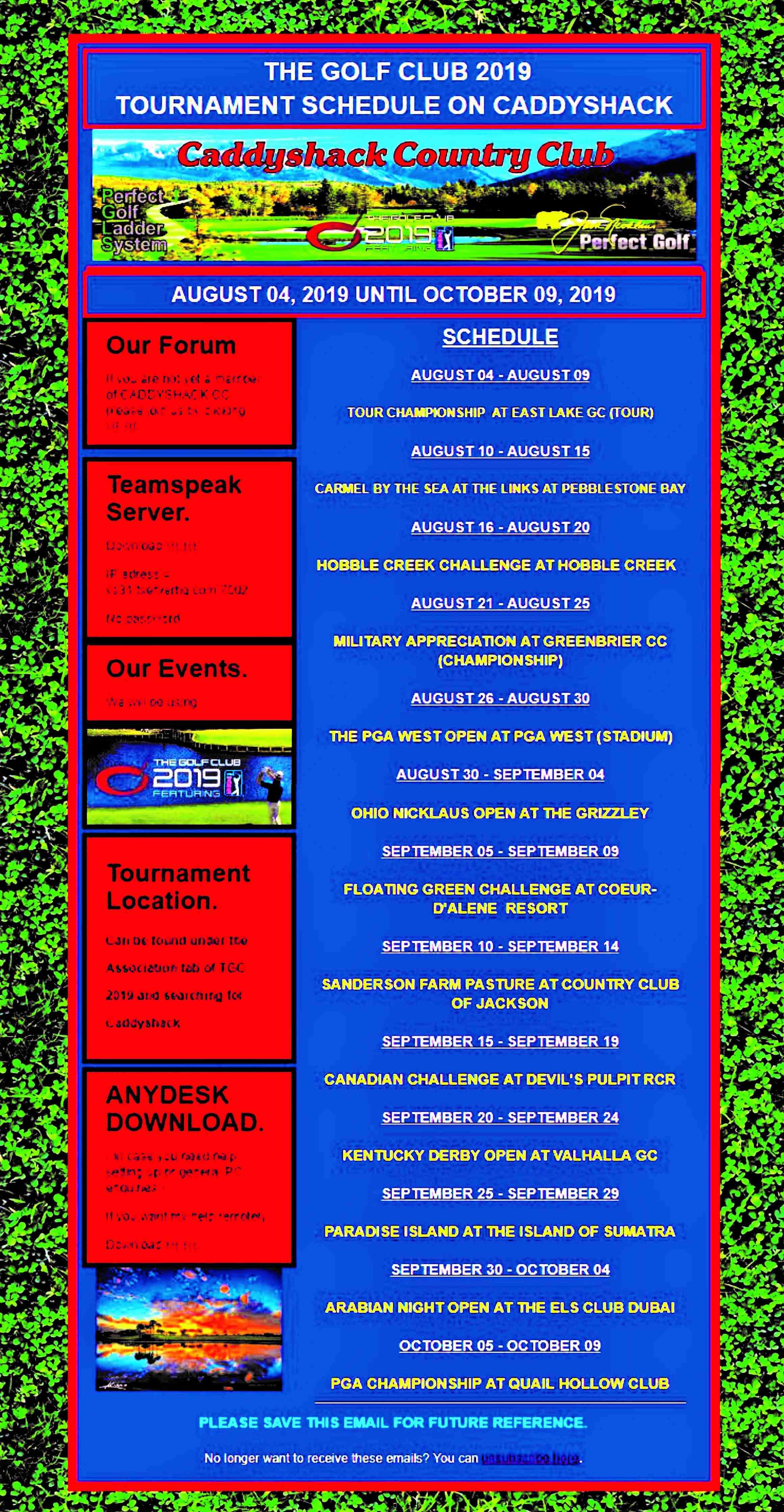 TGC2019 Schedule  Tgc110