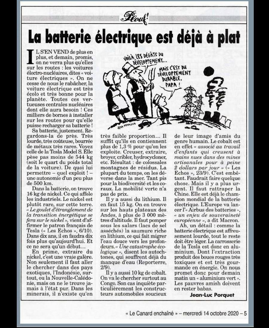 Voiture électrique : premier scandale mondial du 21e siècle (extrait du canard enchaîné) 12106