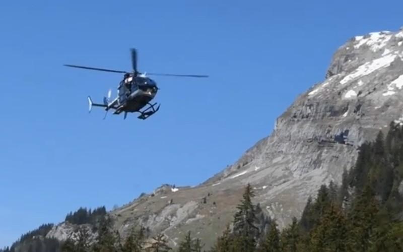 Exercice héliporté pour les chiens secouristes des Savoie 13731410