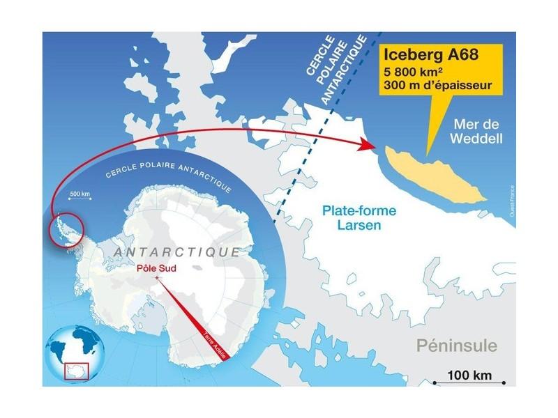 Un inquiétant iceberg géant erre en Antarctique 143