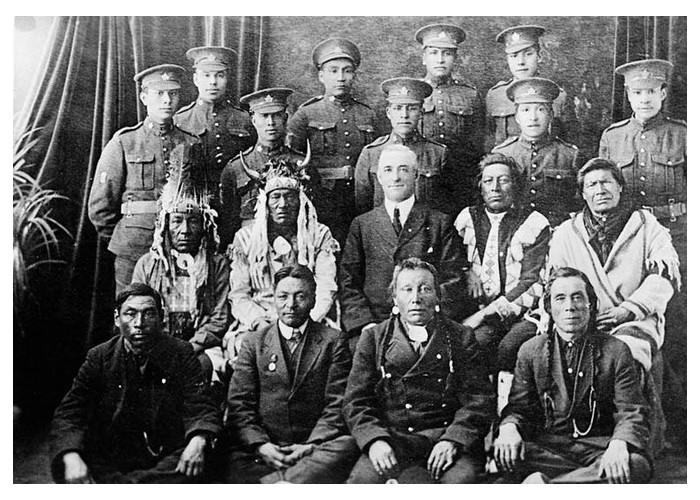 il y a cent ans, le 29 septembre 1918, Joseph Standing Buffalo meurt des suites de ses blessures. 730