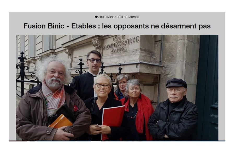 Côtes-d'Armor : le mariage entre Binic et Étables-sur-mer aura bien lieu N11
