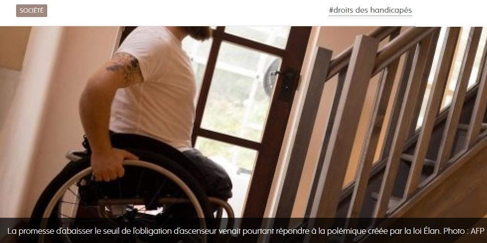 Habitat. Les handicapés privés d'ascenseurs Sans1165
