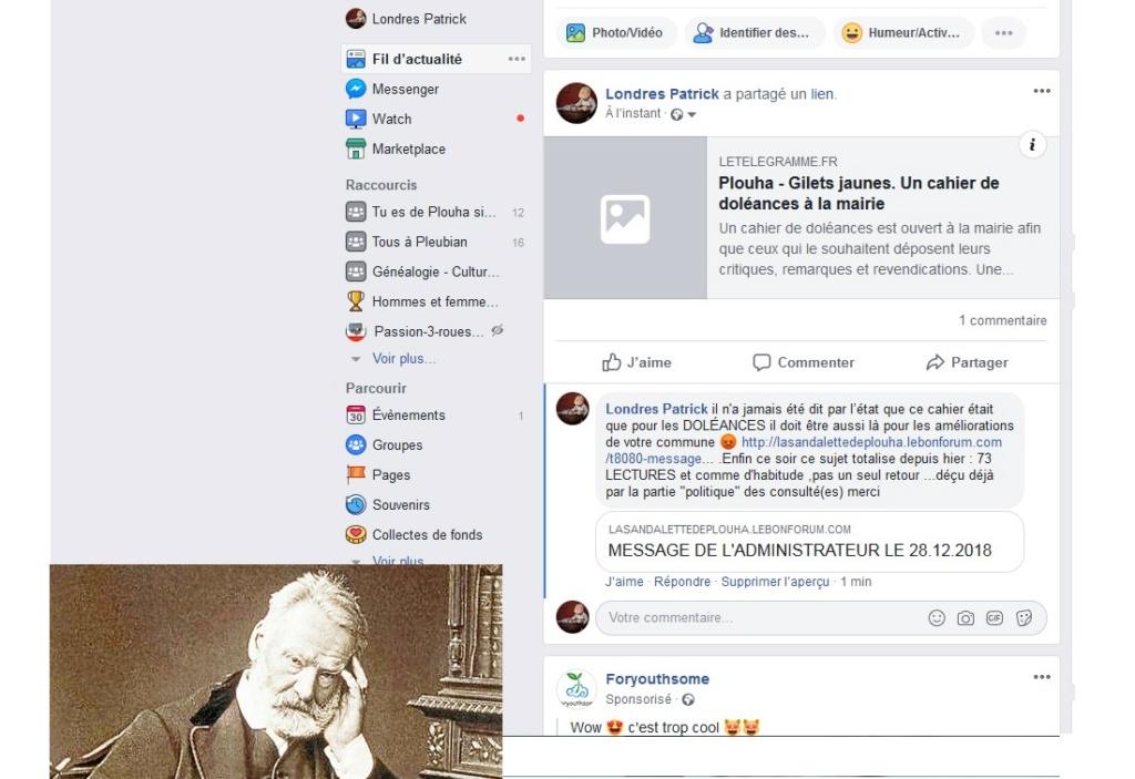 MESSAGE DE L'ADMINISTRATEUR LE 28.12.2018 Sans1196