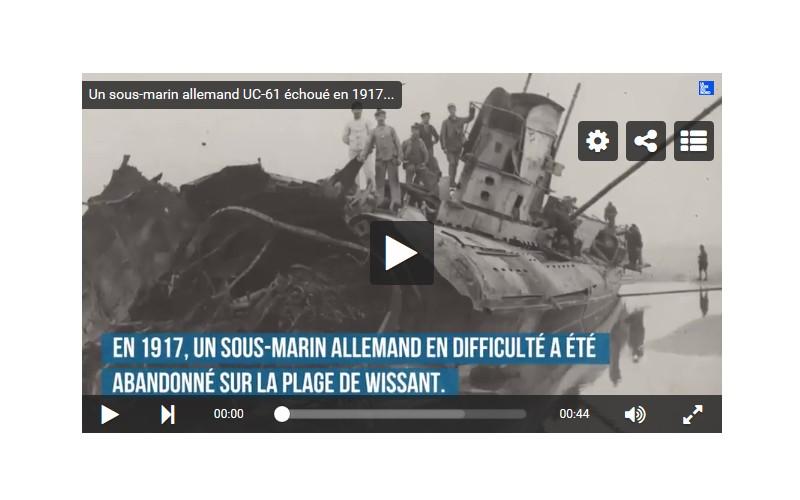 VIDEO. Pas-de-Calais: Echoué en 1917, un sous-marin allemand refait encore surface sur la plage Sans1255