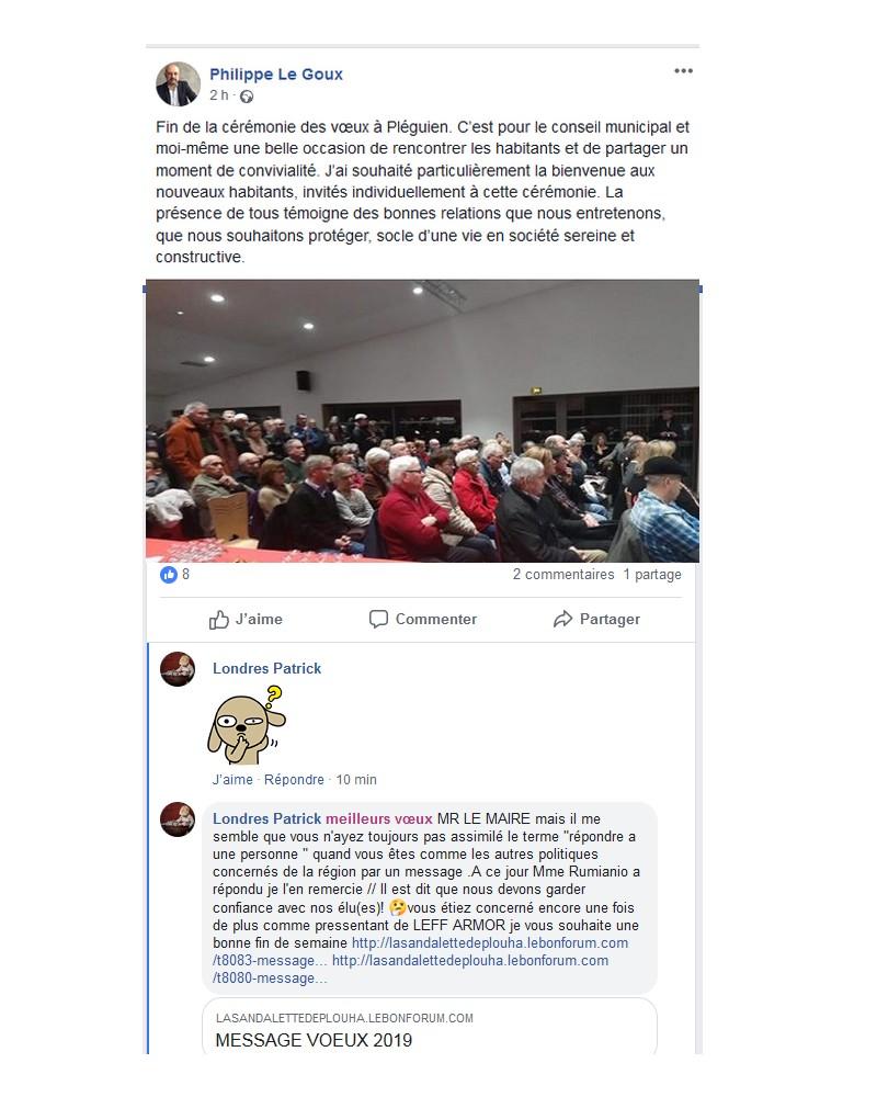 MESSAGE DE L'ADMINISTRATEUR LE 28.12.2018 Sans1277
