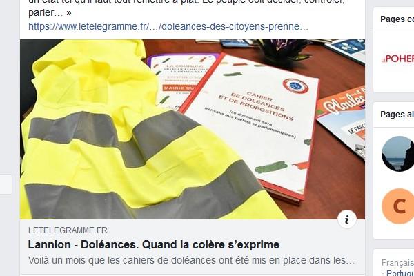 CAHIER DE DOLEANCES LANNION  Sans1304