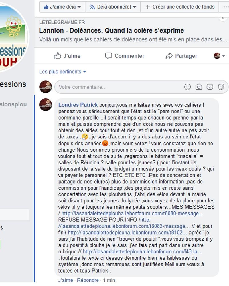 CAHIER DE DOLEANCES LANNION  Sans1305