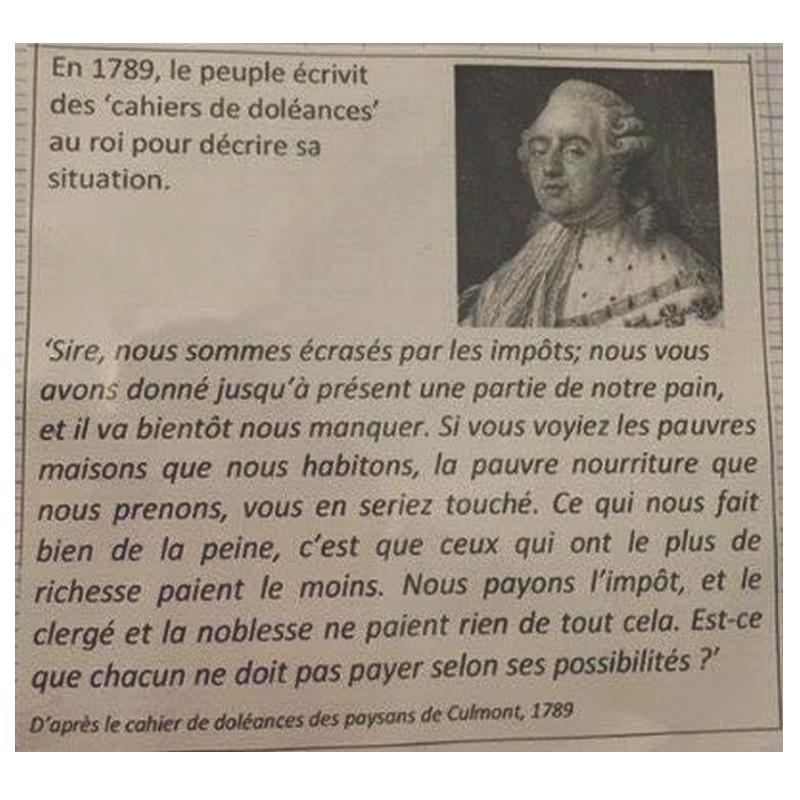 en 1789 le peuple ecrivit  Sans1308