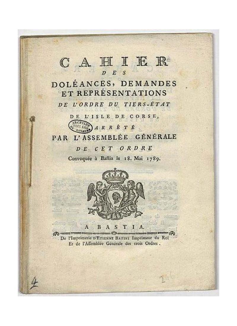Que contenaient les cahiers de doléances de la Révolution ? Sans1390