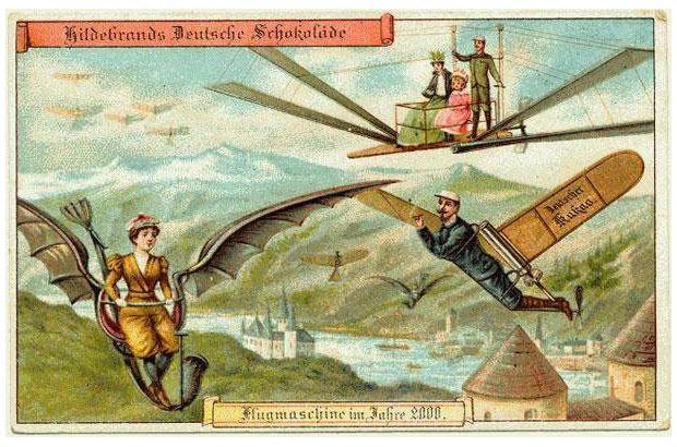 Comment nos ancêtres imaginaient-ils l'avion du futur ? Sans1535