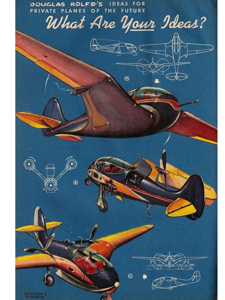 Comment nos ancêtres imaginaient-ils l'avion du futur ? Sans1538