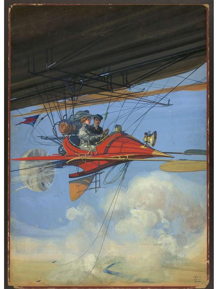 Comment nos ancêtres imaginaient-ils l'avion du futur ? Sans1542