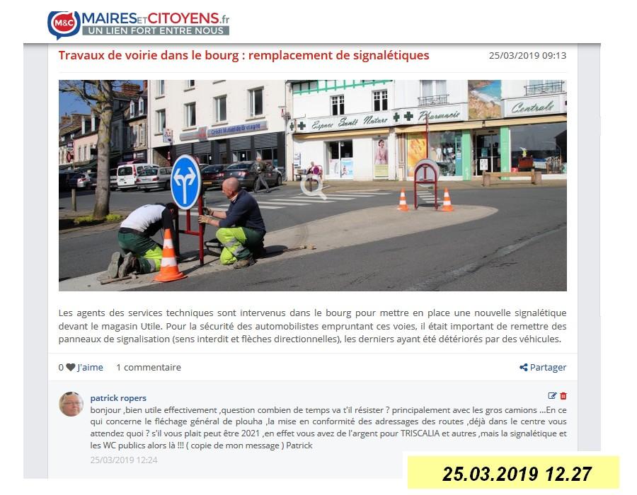 LA PAGE DU FORUM MAIRIE CITOYEN  Sans1740