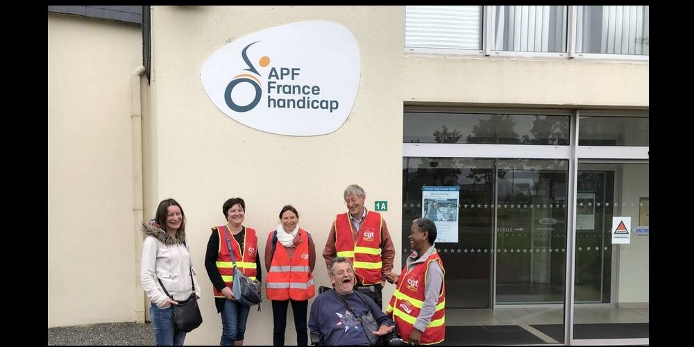 Côtes-d'Armor. Débrayage sur les deux sites de l'Association des paralysés de France Sans2333