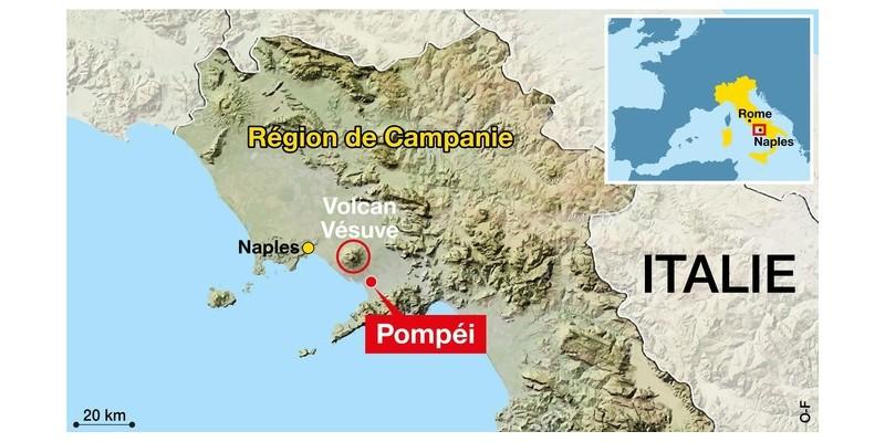 Enfouies sous la cité antique, des bombes de la Seconde Guerre mondiale menacent Pompéi Sans2385