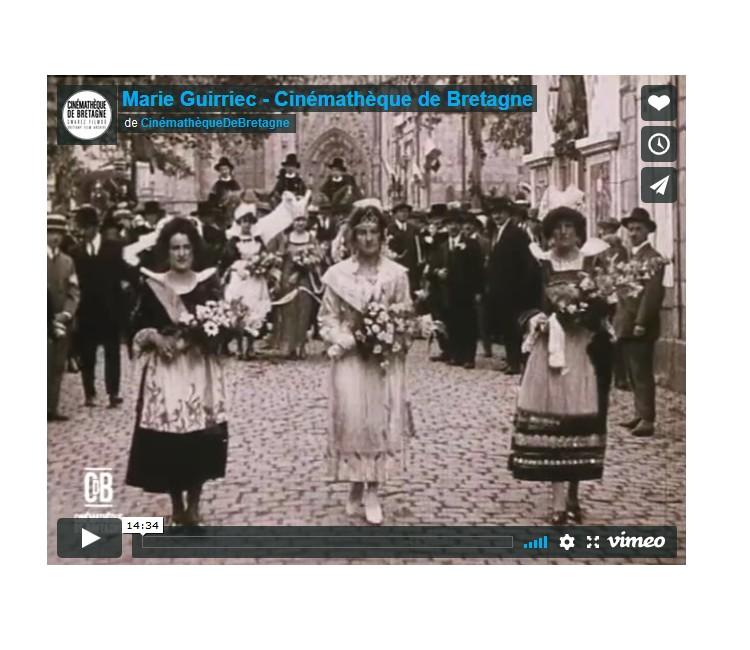 Festival de Cornouaille. Marie Guirriec, première reine en 1923 Sans2464