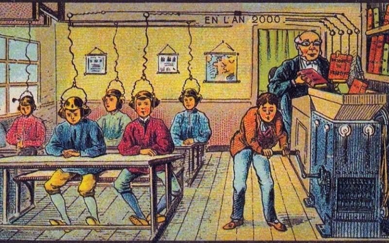 1900 Voilà comment on voyait l'école primaire Sans2541
