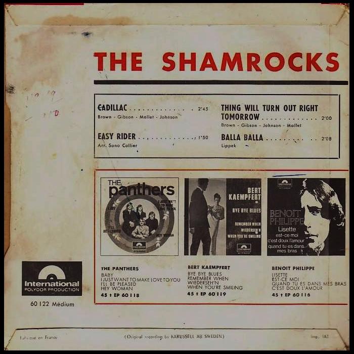 1965 disque 45 tours des SHAMROCKS Sans2628