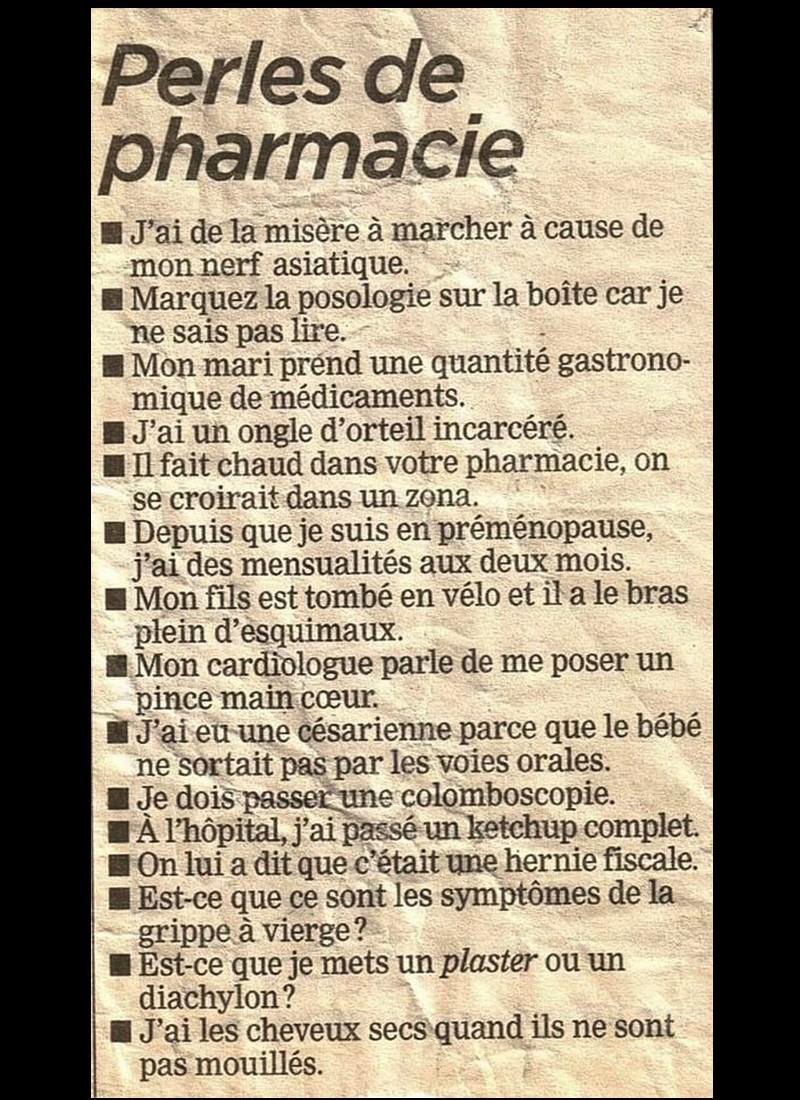 PERLES DE PHARMACIE  Sans3106