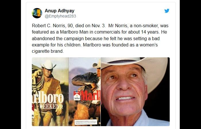 Le premier cow-boy de Marlboro est mort à 90 ans… sans avoir jamais fumé  Sans3110
