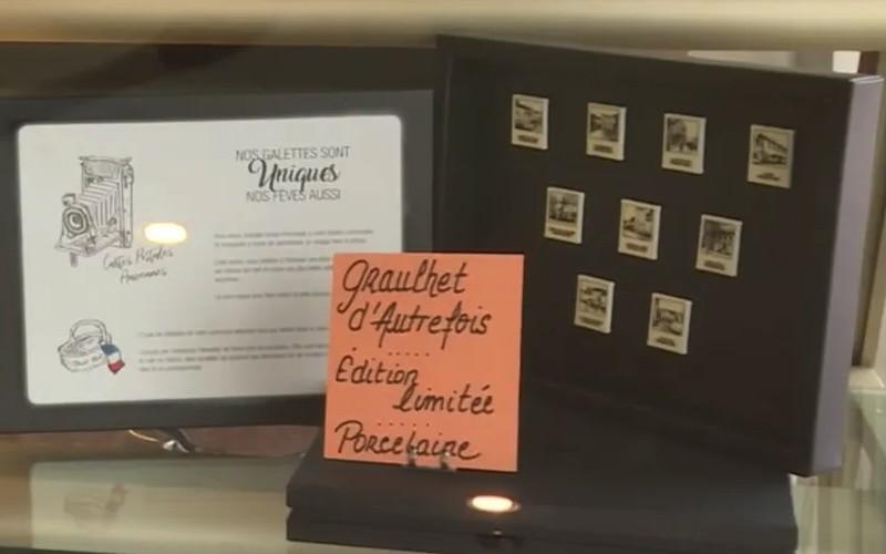 Tarn : les fèves de ce pâtissier reproduisent des vieilles cartes postales de sa ville Sans3605