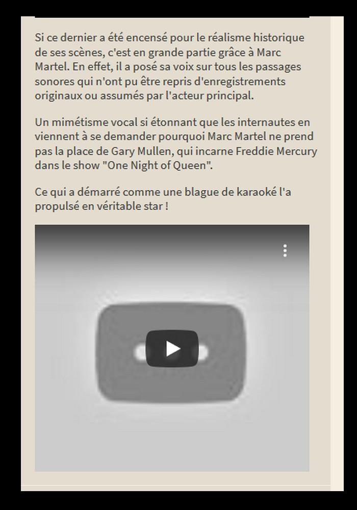 MARC MARTEL   SOSIE VOCAL de FREDIE MERCURY  Sans3902