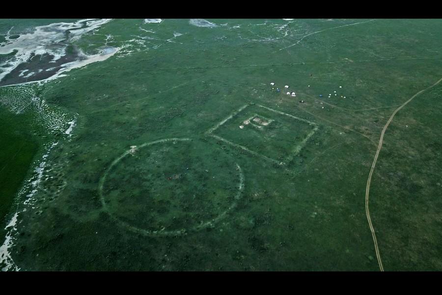 """Une portion oubliée de la Grande Muraille de Chine, dite """"Muraille de Gengis Kahn"""", révélée par des archéologues Sans4471"""