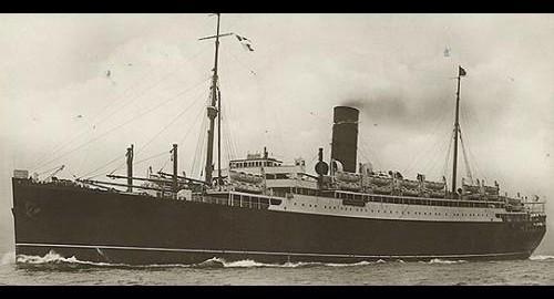 1936.Le paquebot LANCASTRIA s'est échoué sur Sans4545