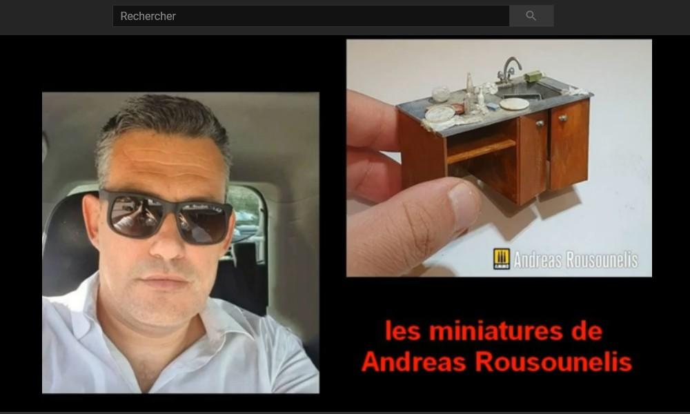Andreas Rousounelis  LE ROI DE LA MINIATURE .. Sans5126