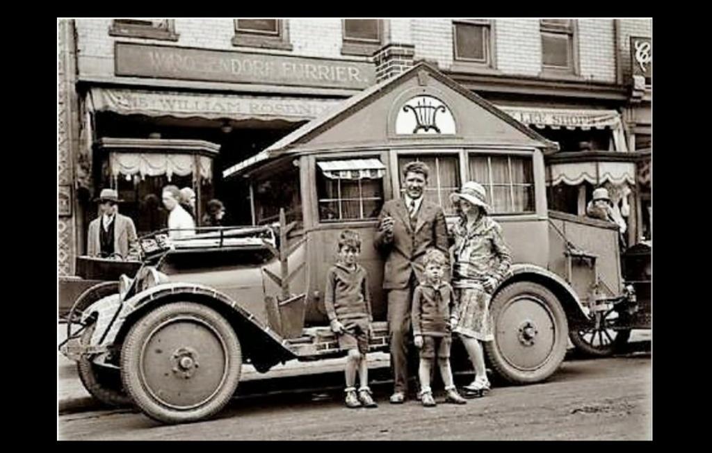 1920 SOUVENIR de L'ANCETRE du CAMPING CAR. Sans5241