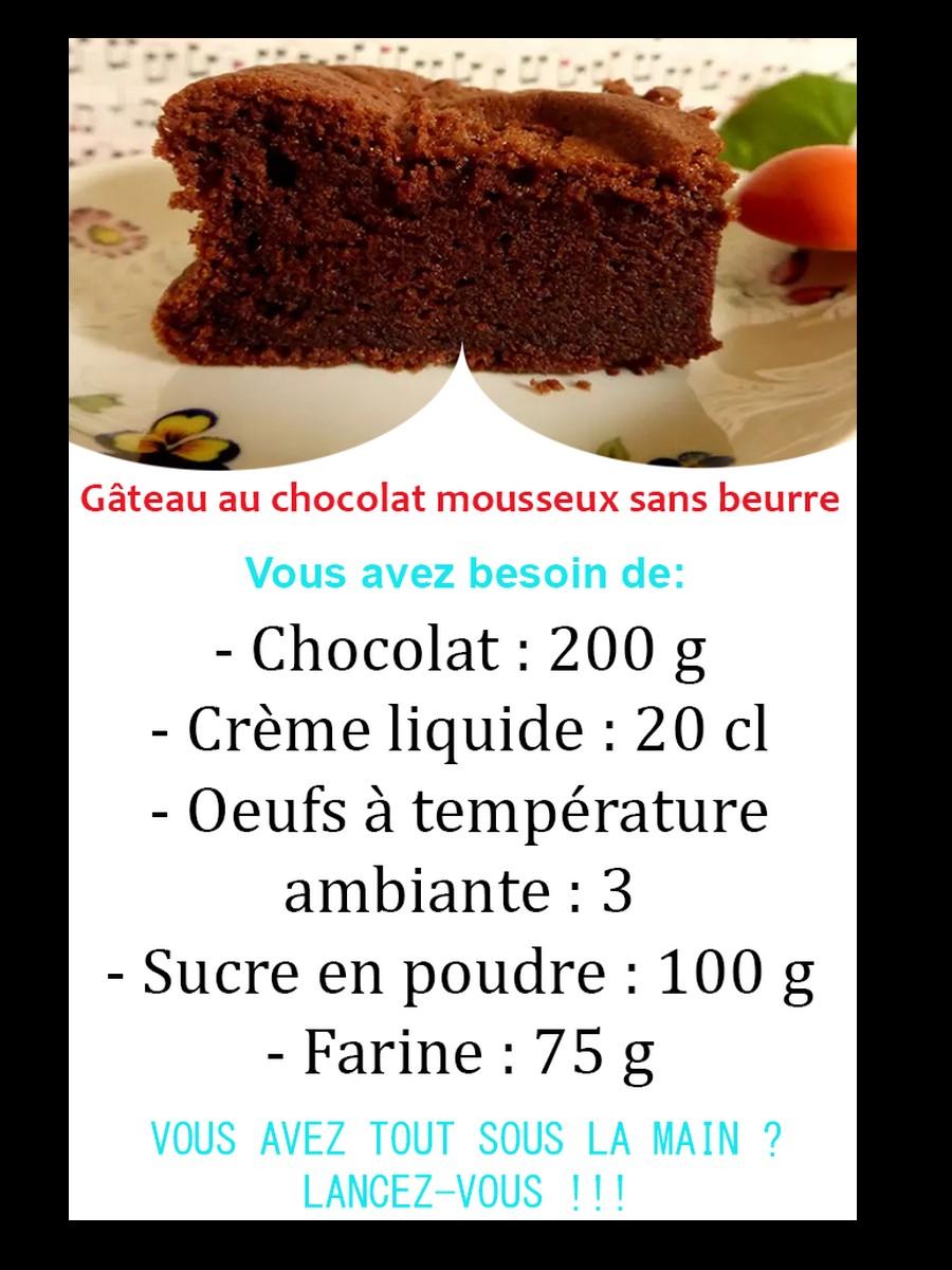 gâteau au chocolat inspiré d'une recette de Christophe Felder. Moelleux, fondant, mousseux... et sans beurre Sans5913