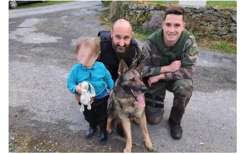Aveyron : un enfant de deux ans retrouvé dans un bois grâce au chien des gendarmes Sans6011